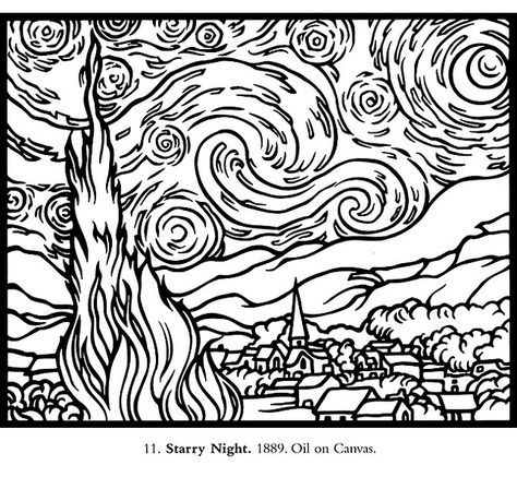 Pattern for Starry Night   Adult coloring pages, Disegni ...