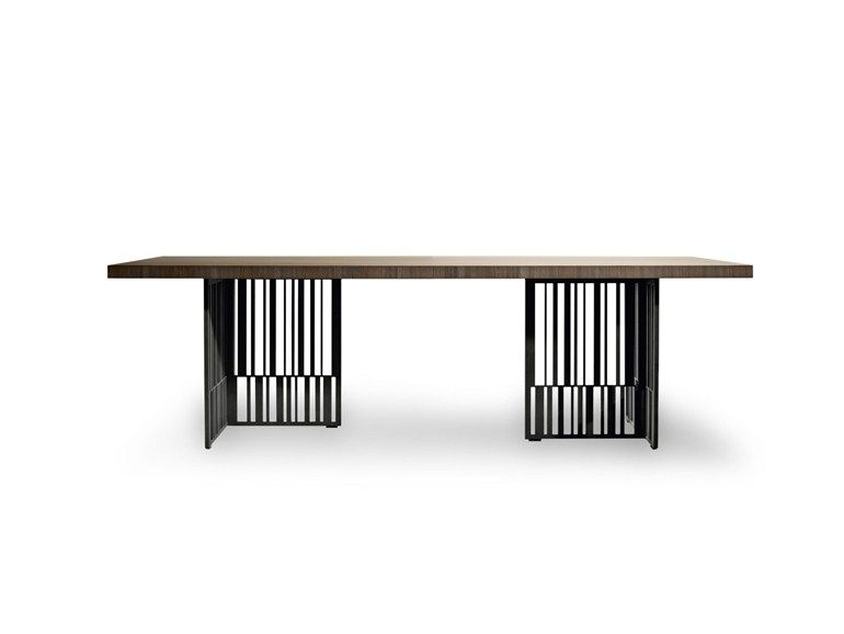 Rectangular Elm Table Codex By Molteni Furniture Dining Table