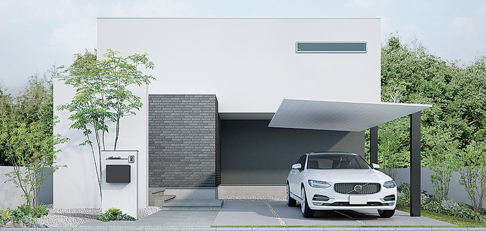 カーポート Sc モダンハウスの外観 カーポートのデザイン