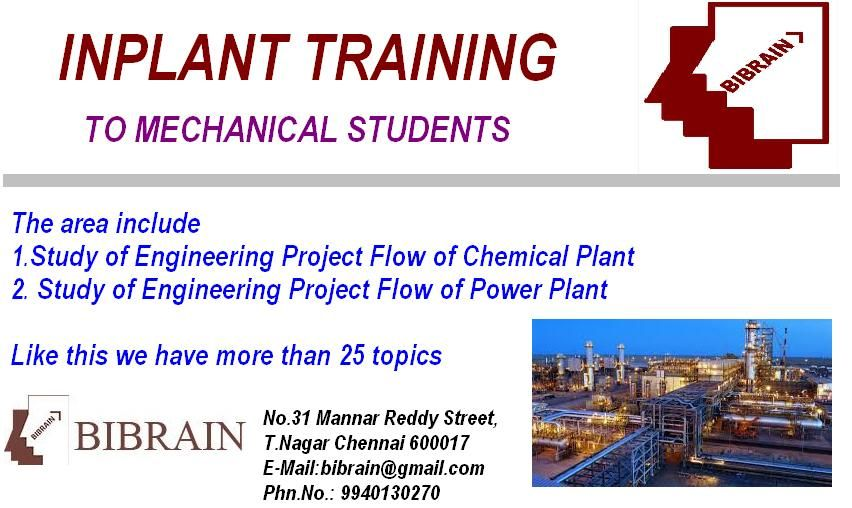 Inplant Training For Mechanical Students Piping Design Design Course Engineering Projects