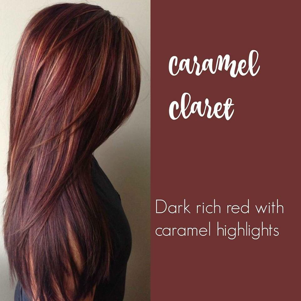 Caramel Claret Brunette Hair Colors In 2019 Dyed Hair
