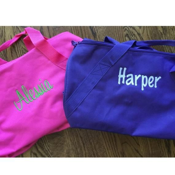 Personalized Kids Duffle Bag  Monogrammed Duffle Bag for Kids  Duffle Bag for Children  O