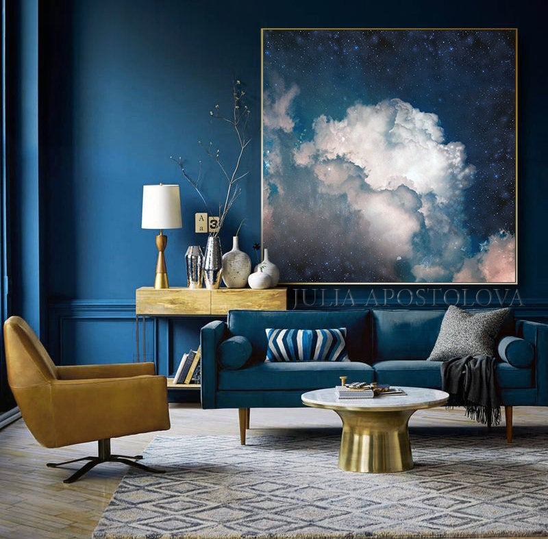 Pin On Interior Design #navy #blue #wall #decor #for #living #room
