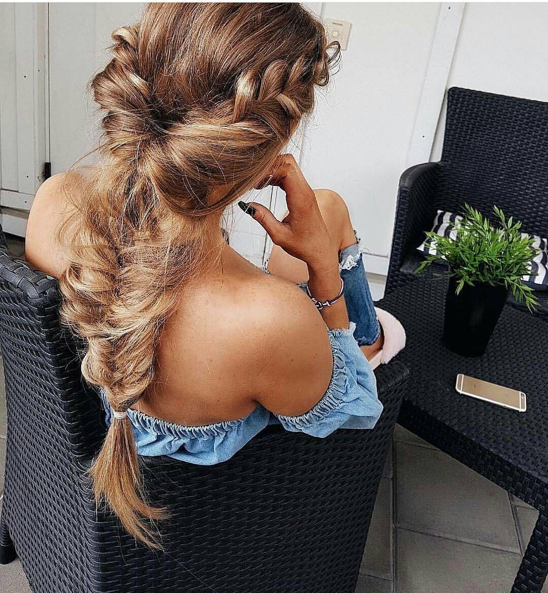 Top braided hairstyles for summer waterfall blonde braid