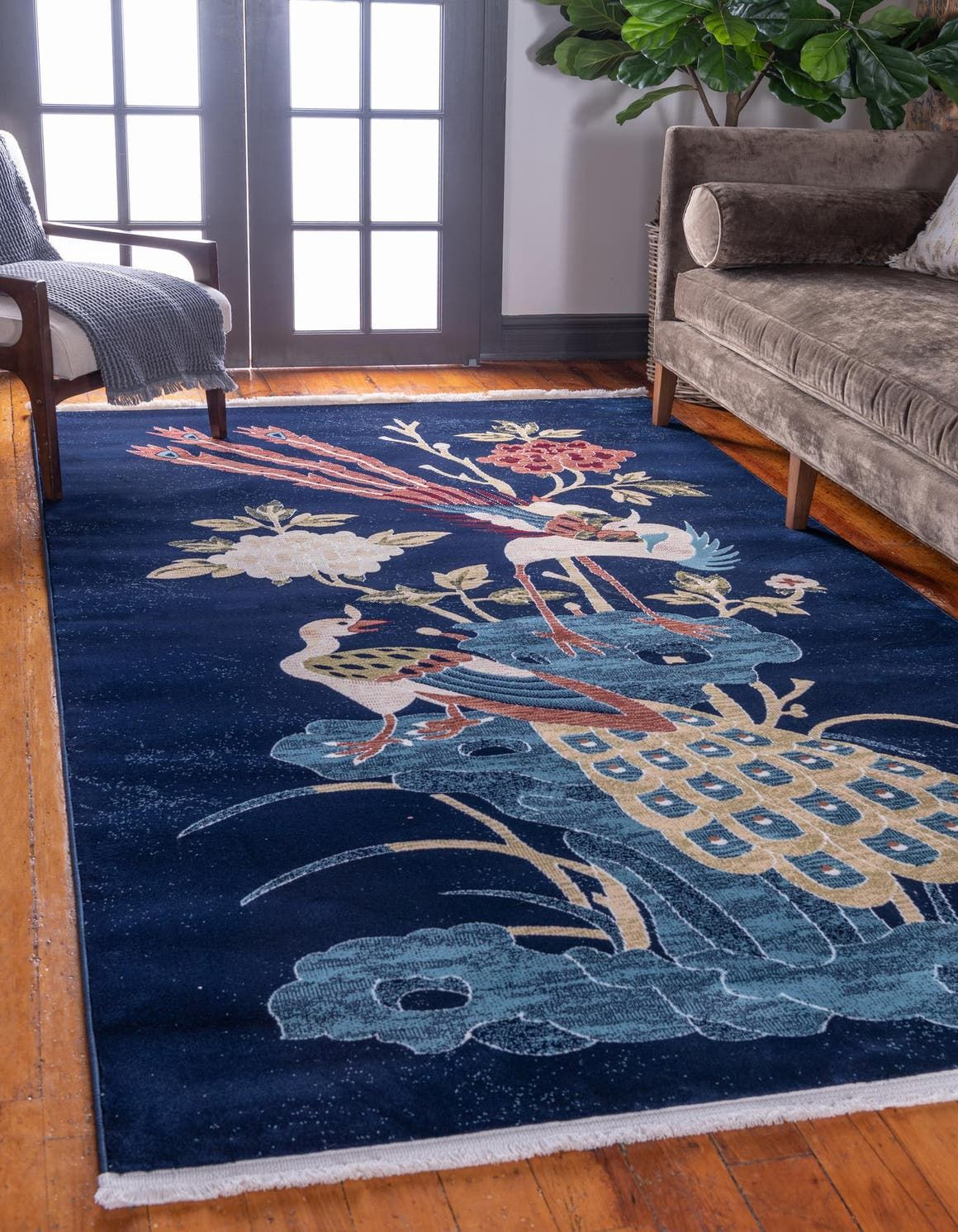 Pao Tou Navy Blue 9x12 Large Area Rug In 2020 Rugs 5x8 Area Rugs 4x6 Area Rugs