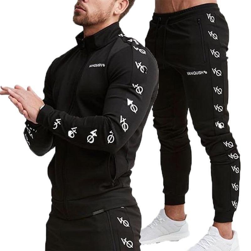 0abe484f82b1 Buy Men s Hoodie Sports Exercise Slim Set Sweatshirt Tracksuit Set at  narvay.com. Men s