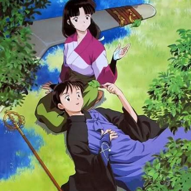 25 Unique Inuyasha Love Ideas On Pinterest: Miroku And Sango: Relaxing