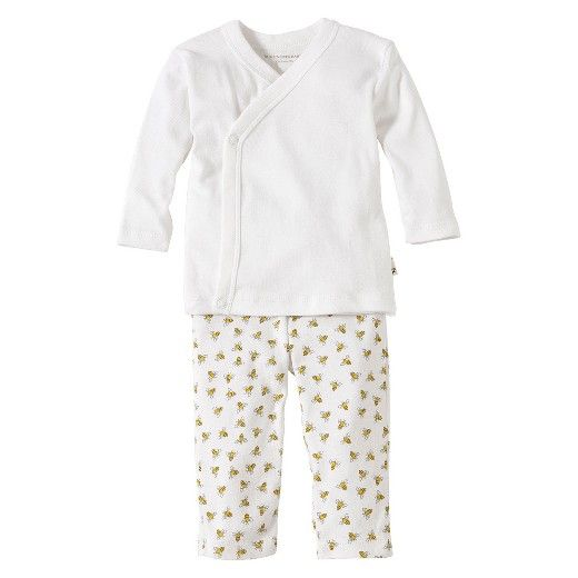 Burts Bees Baby Clothes Custom Burts Bees Baby™ Newborn Neutral 2 Piece Kimono Top And Bottom Set Decorating Design