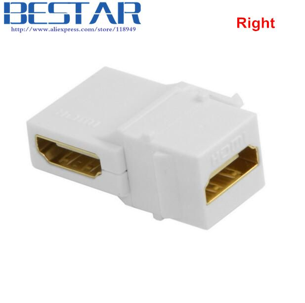 90 Degree Right Angled Hdmi 1 4 Snap In Female To Female Keystone Jack Coupler Angle Adapter For Wall Plate White Plates On Wall Hdmi 90 Degrees