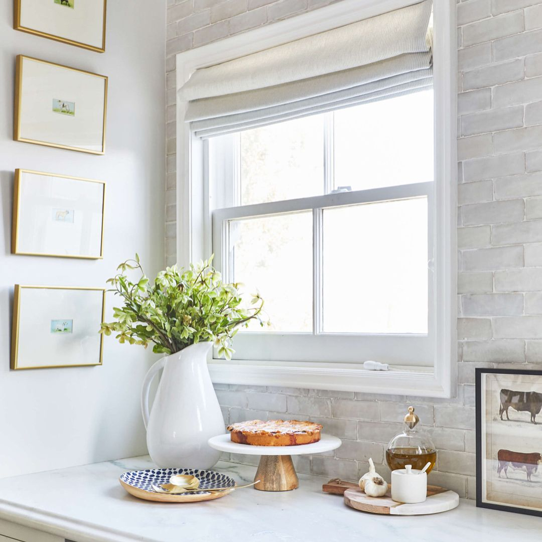 Shelf over kitchen window   likes  comments  emily henderson emhenderson on