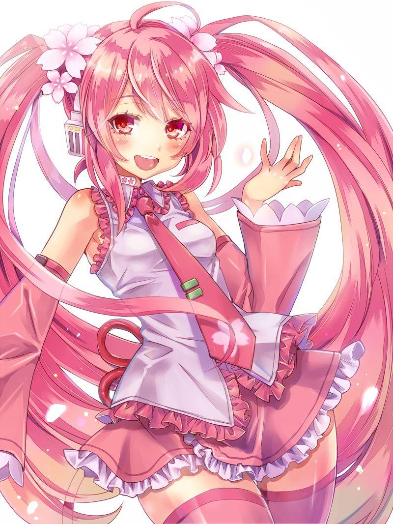SAKURA by mikipa pink animegirl pigtails moe kawaii