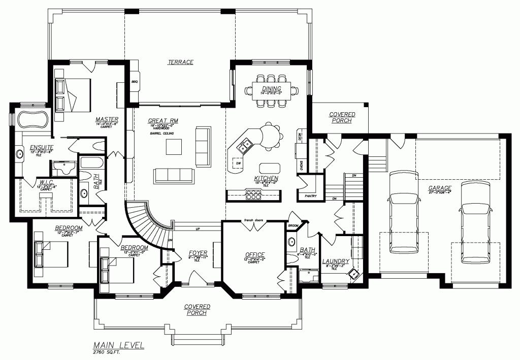 Stinson S Gables Basement House Plans Basement Floor Plans Rectangle House Plans
