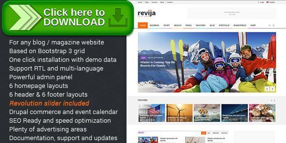 Free nulled revija premium blogmagazine drupal theme download maxwellsz