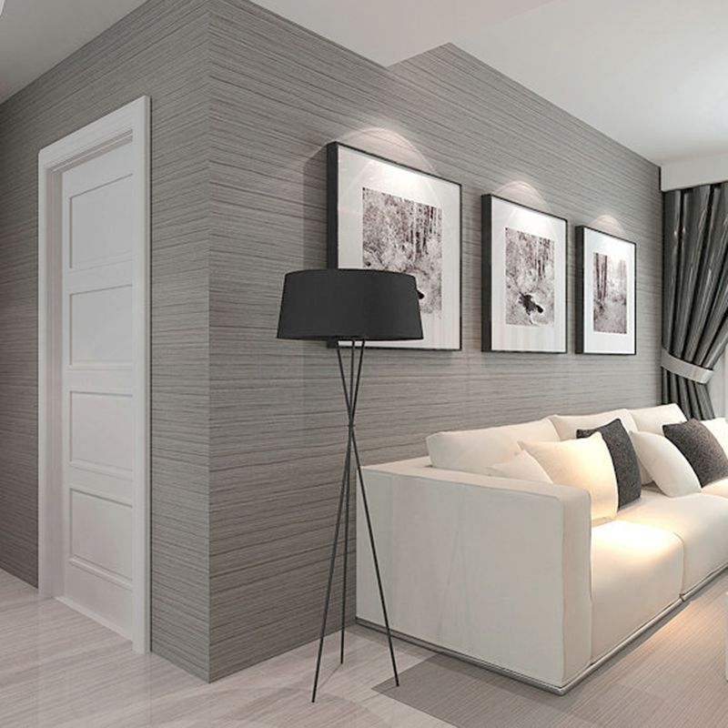 3D Wallpaper Modern Simple Plain Color Non-Woven Wallpaper ...