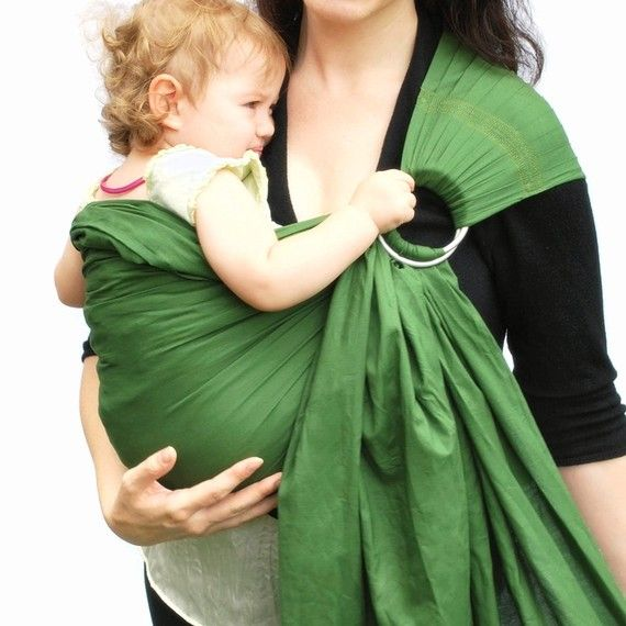 ring sling baby carrier plum purple baby basics extra superwide pleated   ready to ship in standard or petite length only baby shower gift ring sling carrier sage green baby basics      rh   pinterest