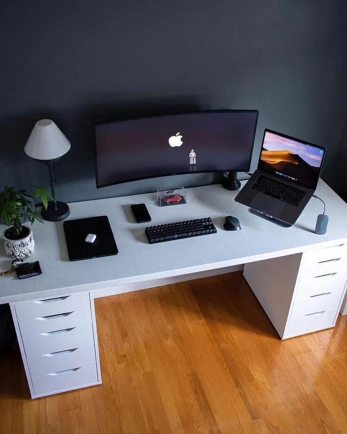 137 Modern Diy Computer Desk Ideas For Your Home Office 21 Mantulgan Me Home Office Setup Game Room Design Home Office Design