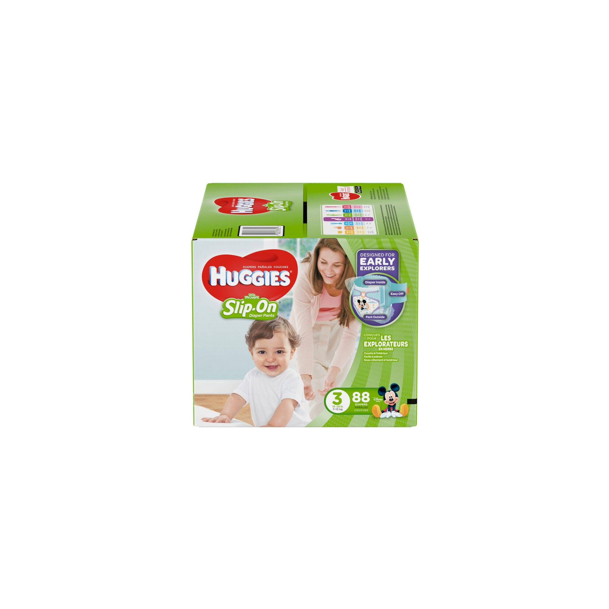 Huggies Little Movers Slip On Diaper Pants Size   Diapers and