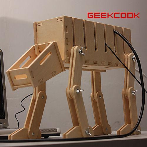 3d holz puzzel model kabelbox basteln selber diy cool. Black Bedroom Furniture Sets. Home Design Ideas