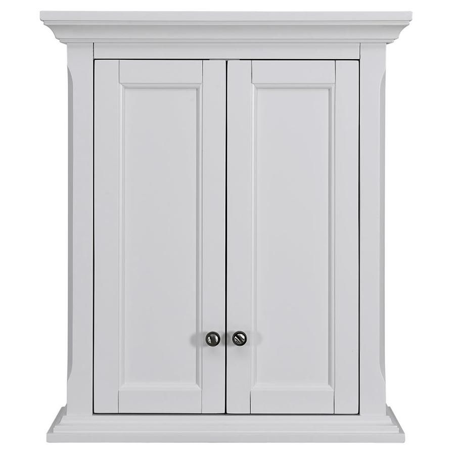 Allen Roth Roveland 24 In W X 28 In H X 10 In D White Bathroom Wall Cabinet Lowes Com In 2021 Bathroom Wall Cabinets Bathroom Wall Wall Cabinet Lowes bathroom wall cabinets