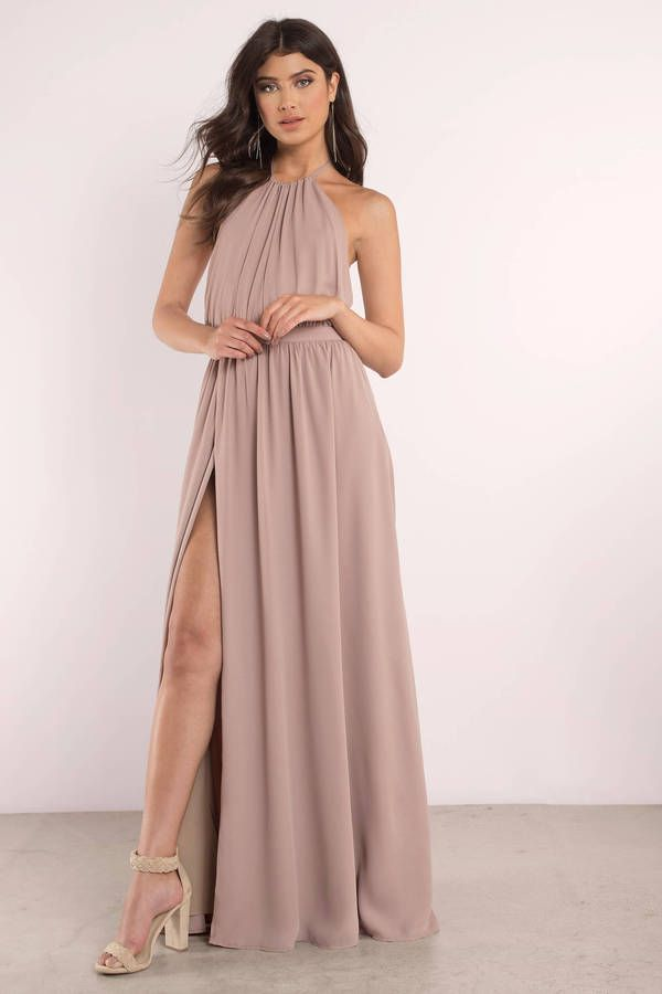 Looking for the In Love Taupe Maxi Dress   3d48f6133