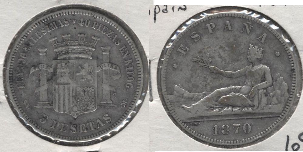 1870 Spain 5 Pesetas Coin Coins Ebay Go Fund Me