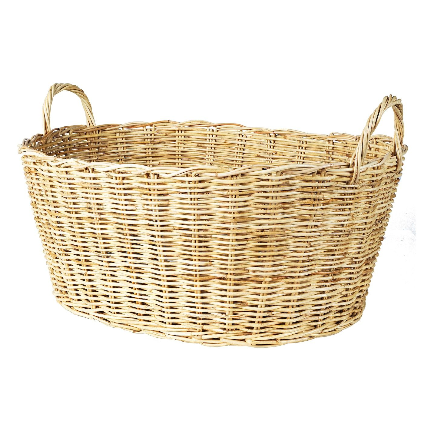 Borstad Basket With Handles 23 X18 In 2020 Ikea Laundry