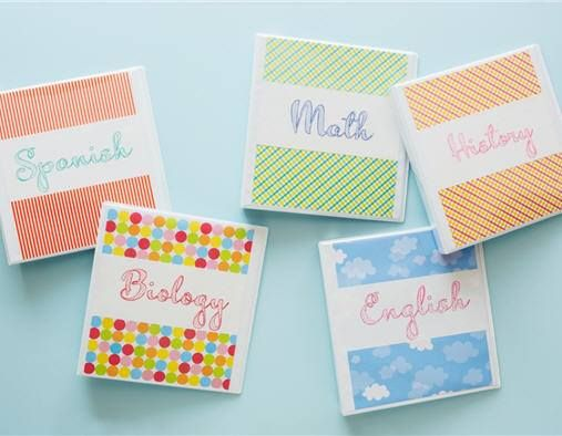 school supplies makeover view binders get a new look by simply
