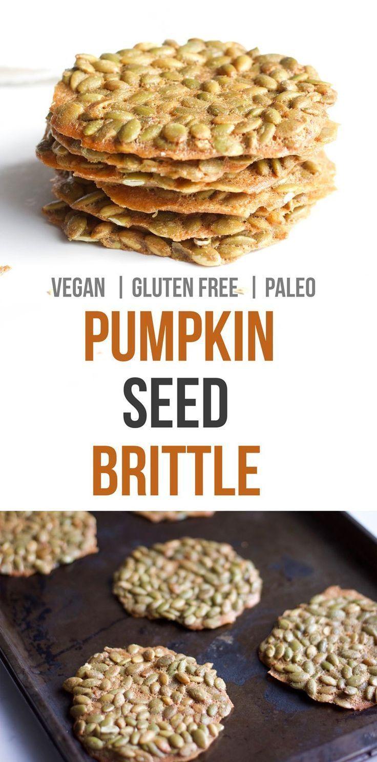 Gluten and Dairy Free Pumpkin Seed Brittle - Nikki's Plate