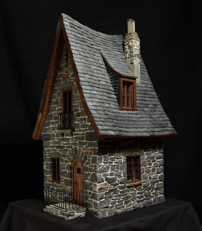 make a miniature stone fairy house miniature house pinterest haus fee und miniatur. Black Bedroom Furniture Sets. Home Design Ideas