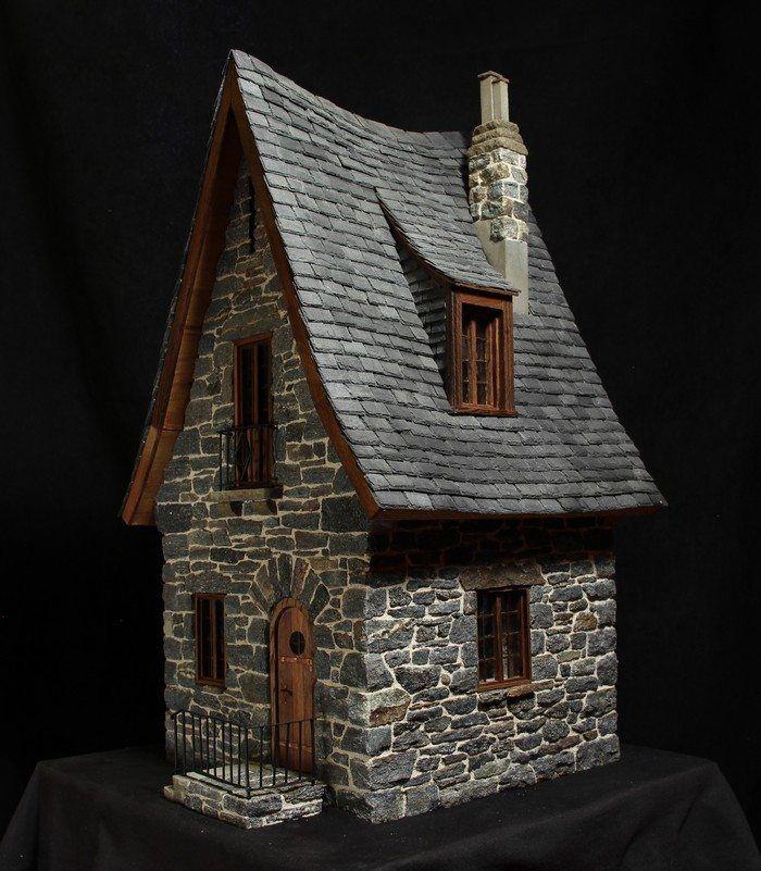 make a miniature stone fairy house miniature house pinterest haus fee und miniatur. Black Bedroom Furniture Sets. Home Design Ideas