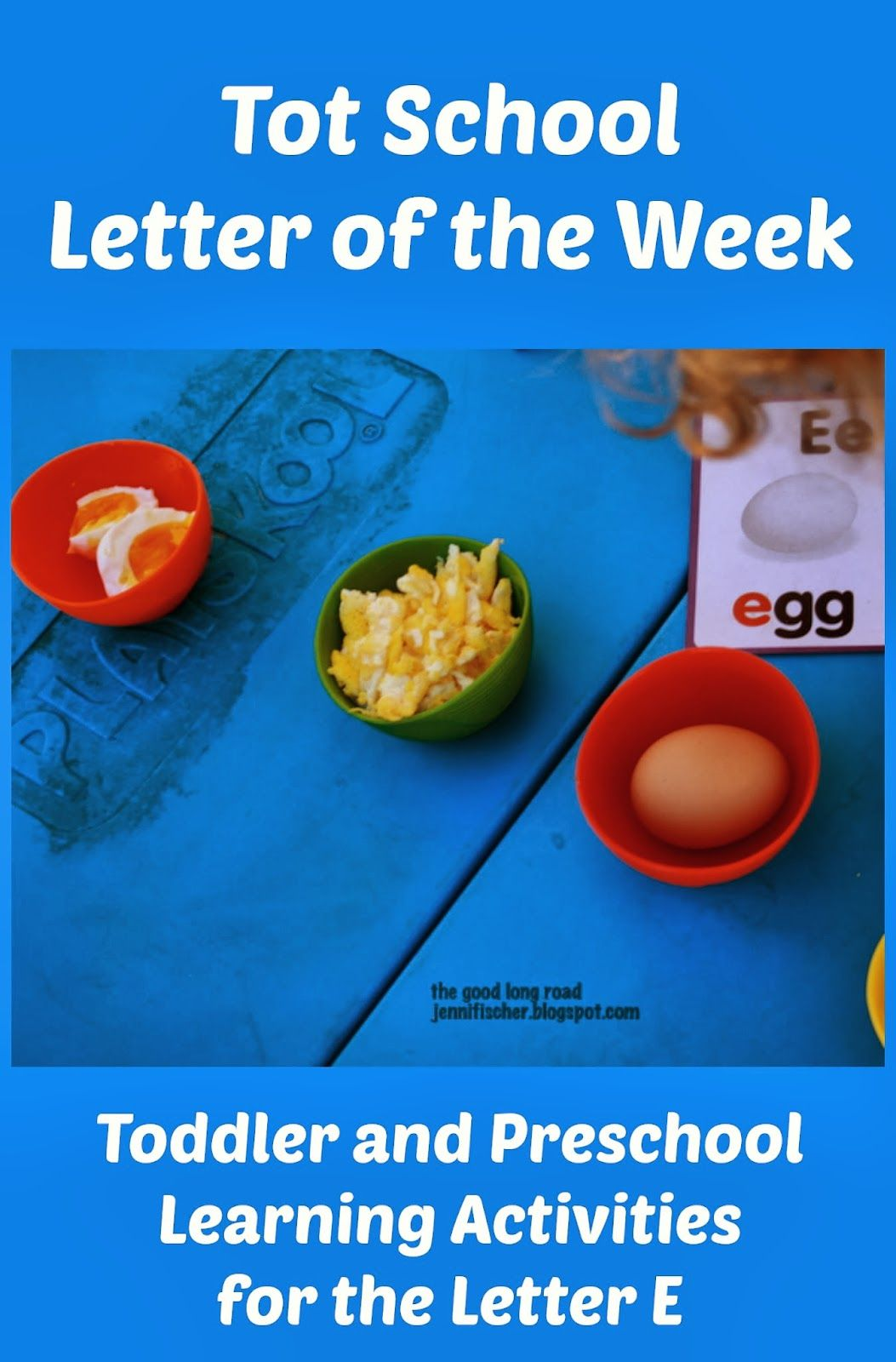 Tot School And Prek Learning Activities For The Letter E