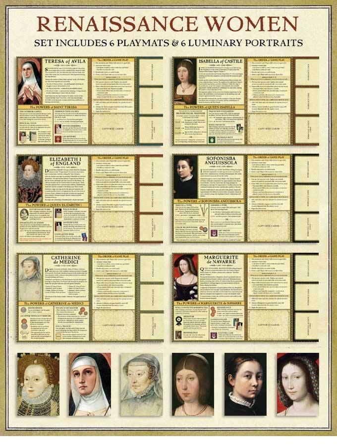 Women of the Renaissance Play mats  Renaissance Wars Expansion set