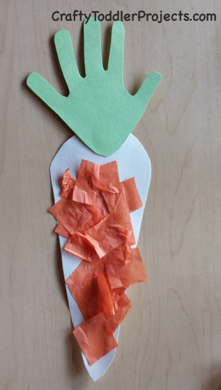 Crafty Toddler Projects Easter Craft Handprint Carrot