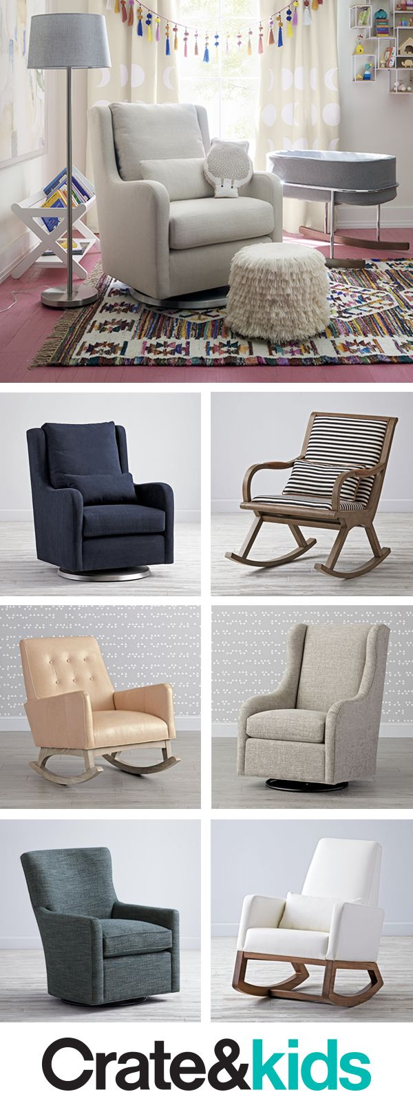 Rocking Chairs and Gliders   Crate and Barrel is part of Baby furniture - Add comfy, stylish rocking chairs and gliders to your nursery to make bedtime and feeding time a fun bonding experience