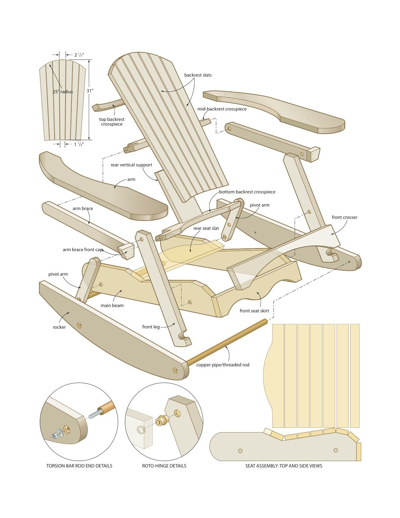 How to make a simple wooden rocking chair - Teds Woodworking Muskoka Rocking Chair Woodworking Plans Woodshop Plans Projects You Can Start Building Today