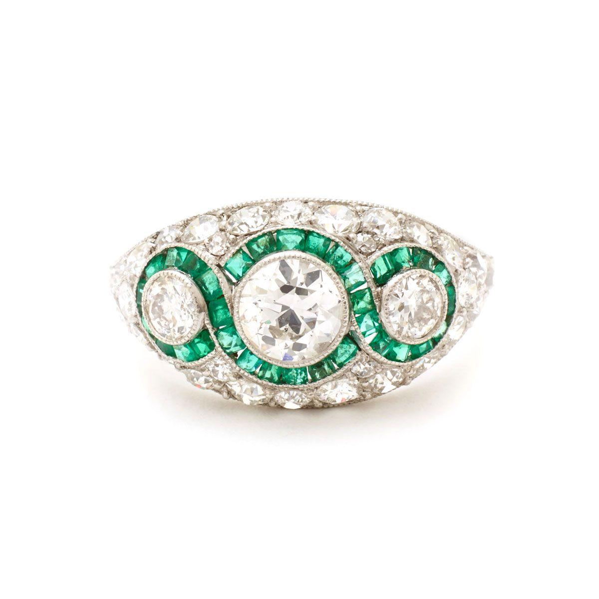 Artdecodiamondandgreenemeraldringa: Wedding Ring Art Deco Adver At Reisefeber.org