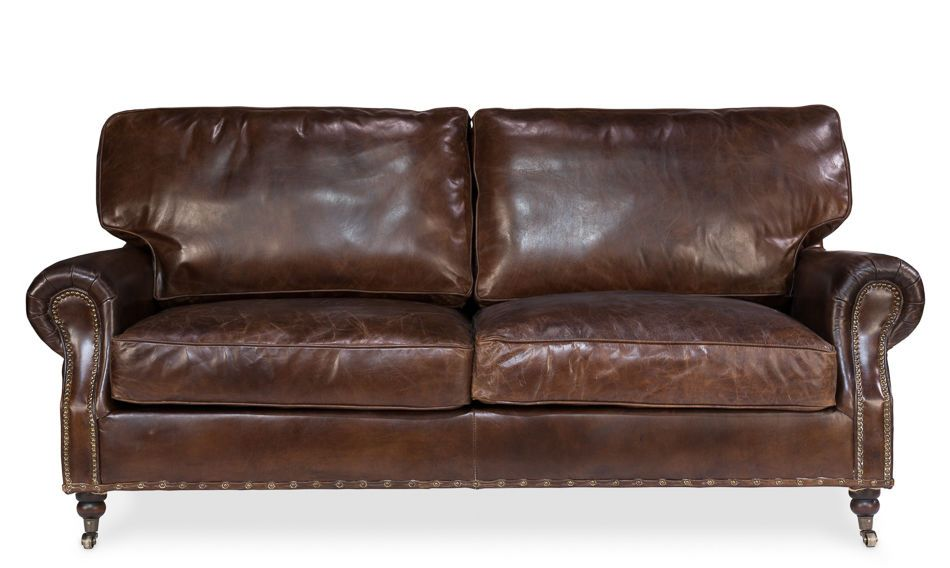 Sofa Leather Couch Hardwood Vintage Antique Style Handmade New Free Shipping Handmade Traditional Leather Couch Leather Sofa Sofa