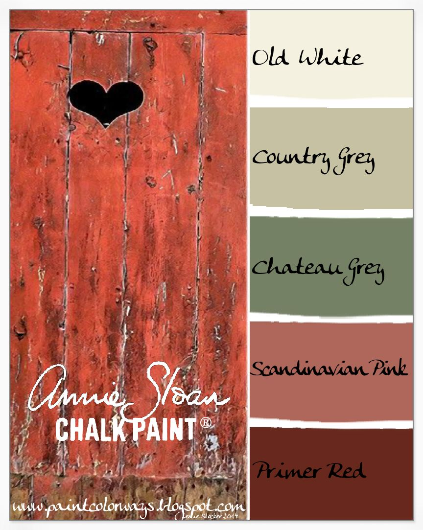 Colorways with Leslie Stocker » Pantone Color for 2015 Marsala = Annie Sloan Chalk Paint Primer Red #colorpalettecopies