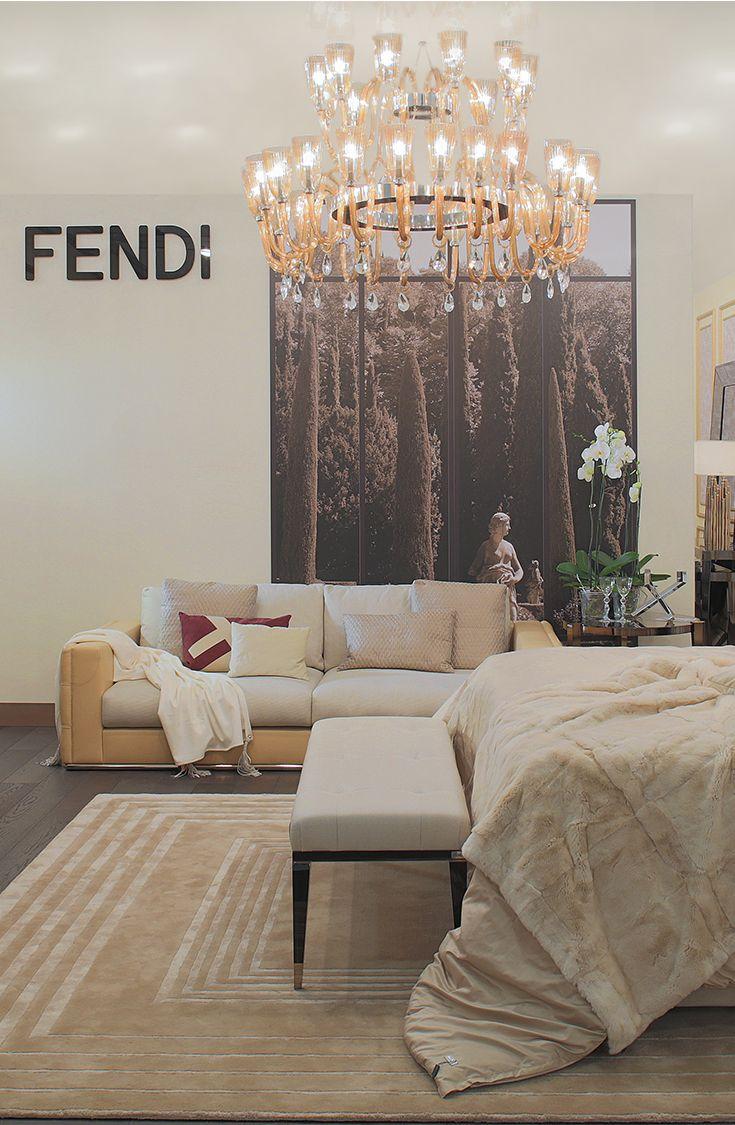 Viyet designer furniture lighting fendi casa tall table lamps - Fendi Casa Stand At I Saloni Worldwide Moscow 10th Edition Luxury Living Group