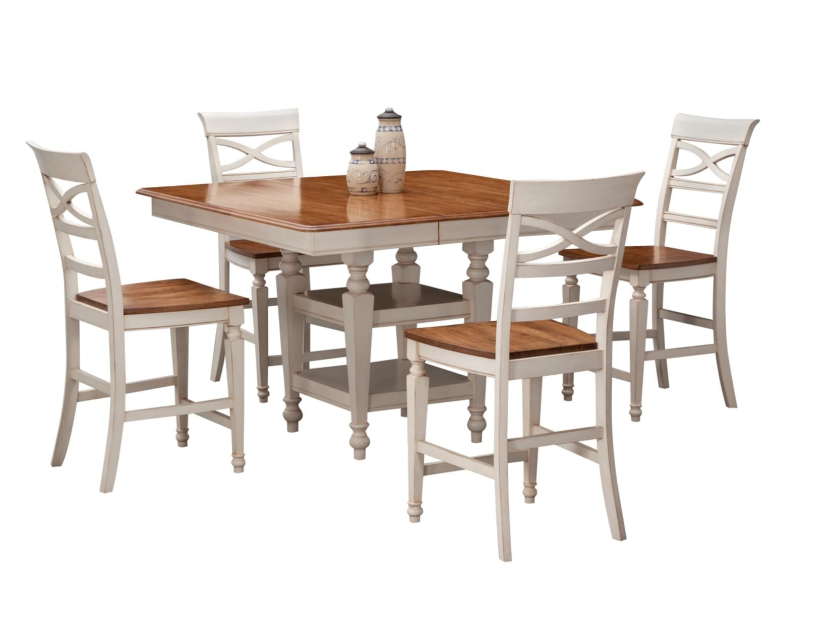 Chesapeake White 4-PC Counter Height Dinette - Value City
