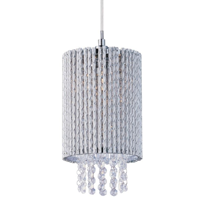 """ET2 E23140 1 Light 6"""" Wide Pendant from the Spiral Collection Polished Chrome Indoor Lighting Pendants"""