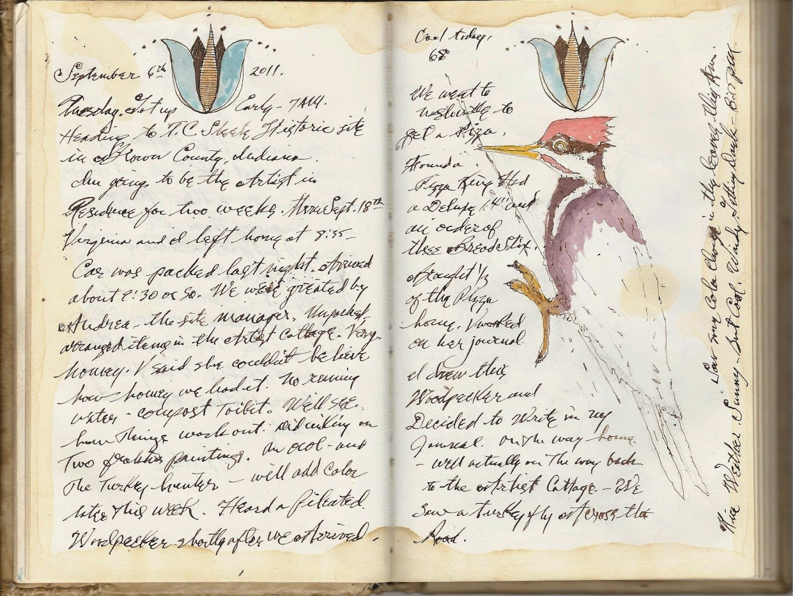 Ken Scott American Frontier Artist  Field journal, Sketchbook