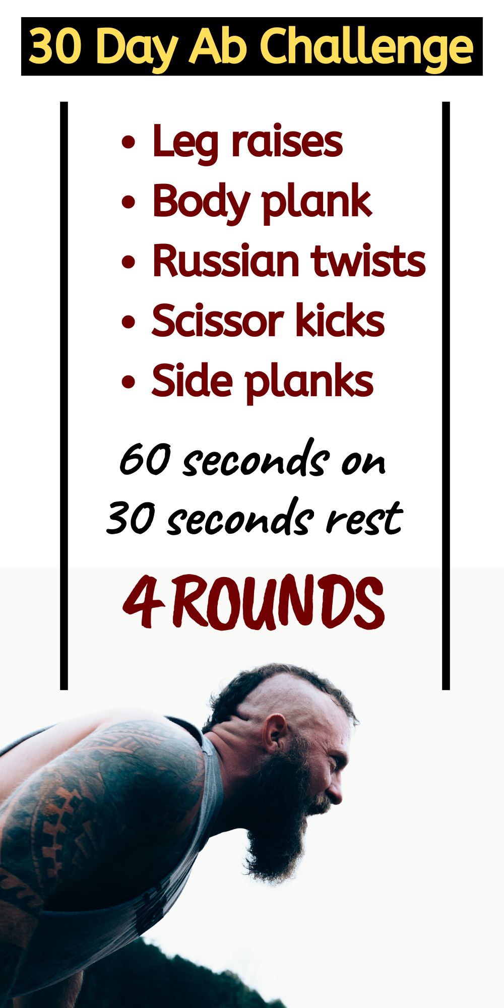 30 Day Ab Challenge: Push Yourself For A Month | 30 day ab ... Oblique Exercises Abe