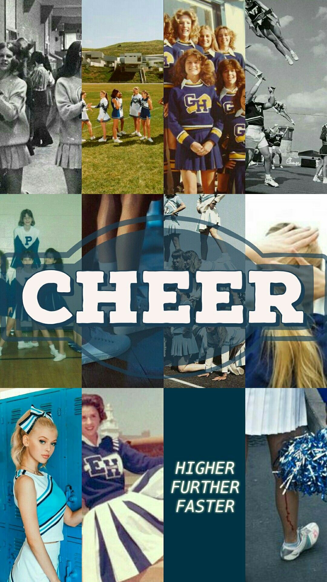Cheerleader Lockscreen Wallpaper Blue Aesthetic Cheerleading Cheerleading Quotes Cheer