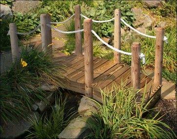 Landscape Rope Nautical Treated Pine Rope Rail Bridge Wwhite