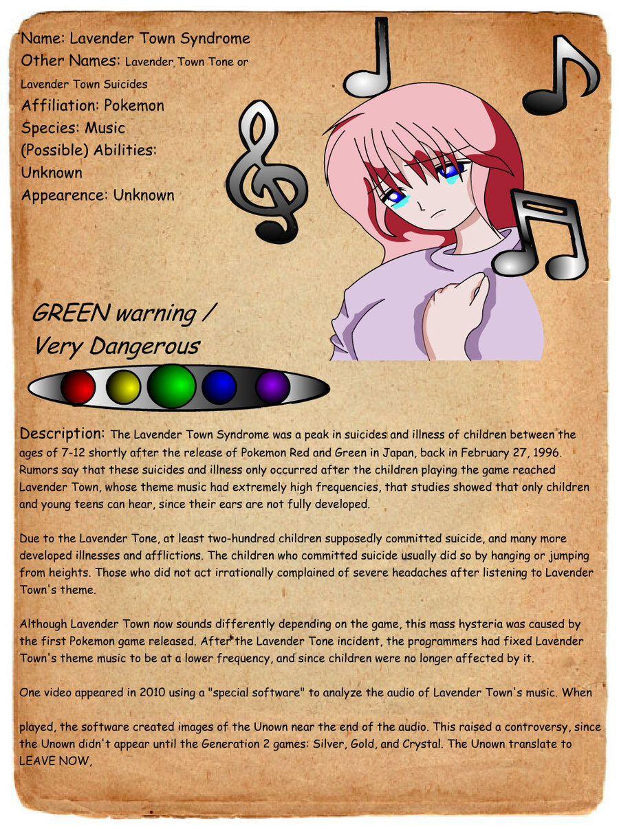 Lavender Town Syndrome | Creepypasta | Creepypasta wiki