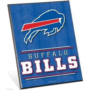 Buffalo Bills Logo Premium 8″ X 10″ Solid Wood Easel Sign