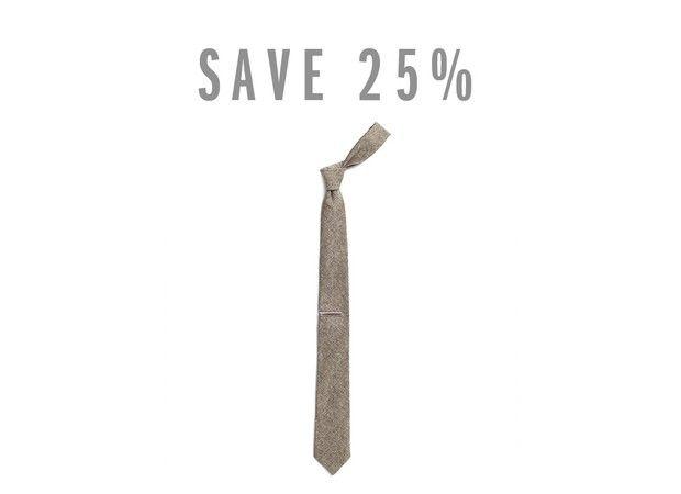 Apolis Linen Tie and Tie Clip Bundle