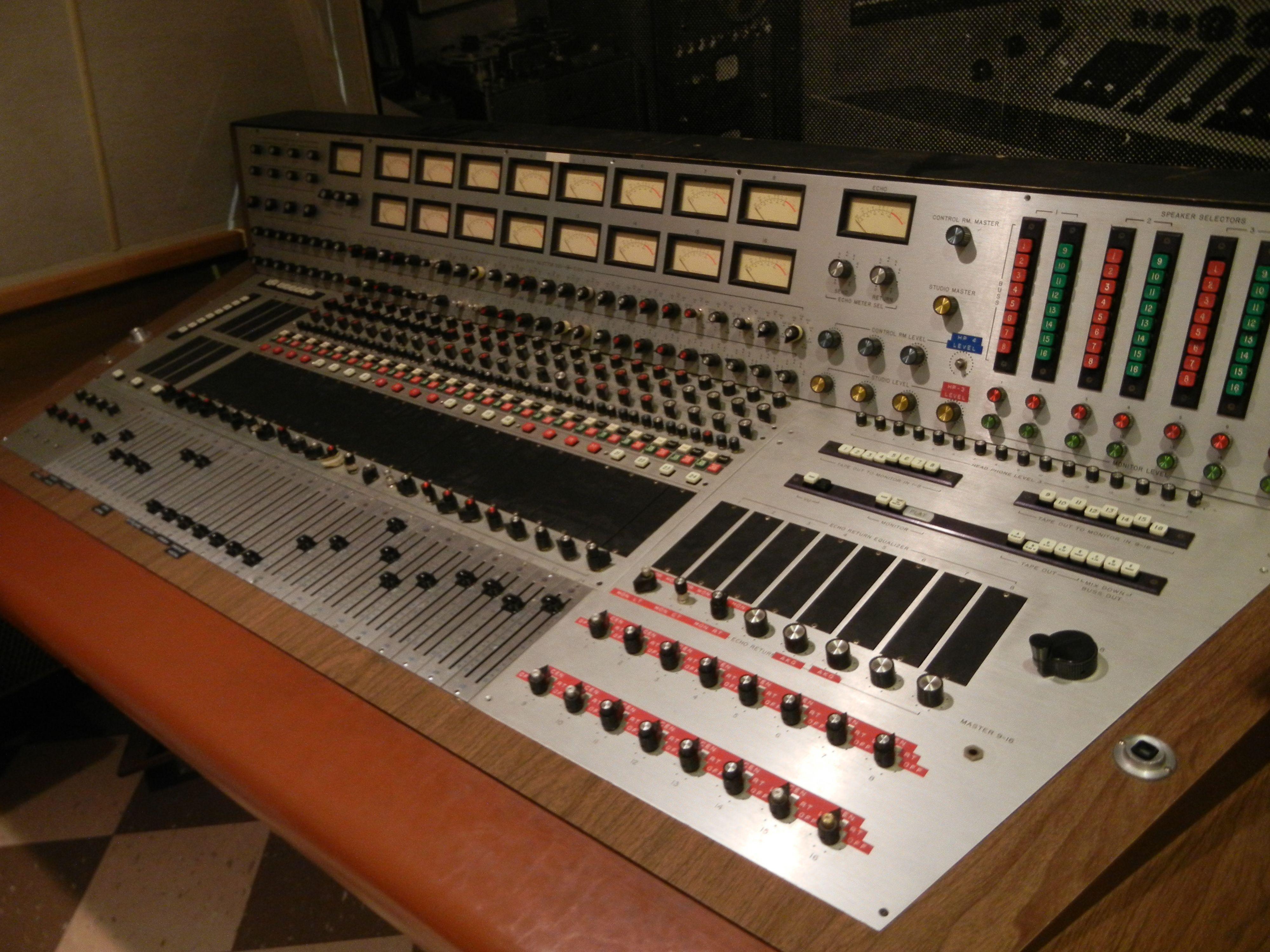 Recording Board at RCA Studio B, Nashville TN