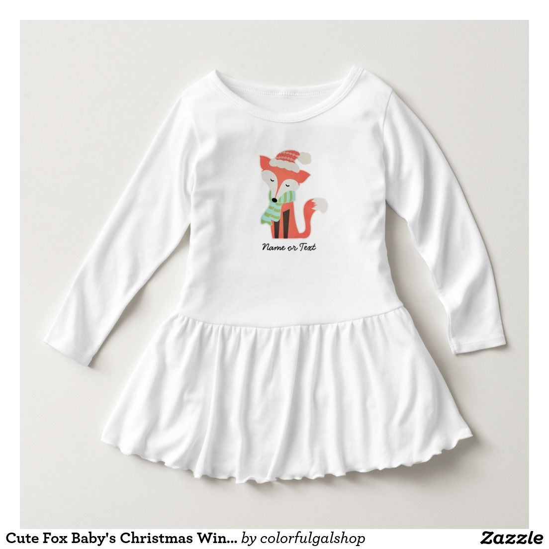 Cute Fox Babyus Christmas Winter Woodland Rustic Shirts  Baby
